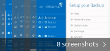 Screenshot collage for airbackup
