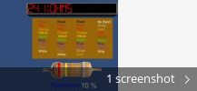 Screenshot collage for Resistor Color Bands PC