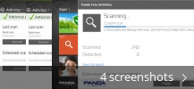 Screenshot collage for Panda Free Antivirus