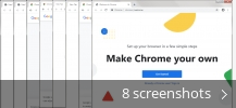Screenshot collage for Google Chrome Canary