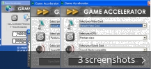 Screenshot collage for Game Accelerator