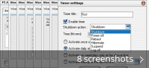 Screenshot collage for PC Auto Shutdown