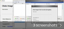 Screenshot collage for Okdo Image to Ppt Converter