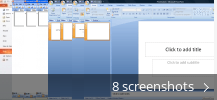 Screenshot collage for Microsoft Office PowerPoint