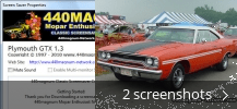Screenshot collage for Plymouth GTX Screensaver