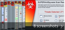 Screenshot collage for SUPERAntiSpyware Free Edition