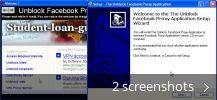The Unblock Facebook Proxy Application (a freeware Facebook