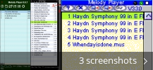 Screenshot collage for Melody Player