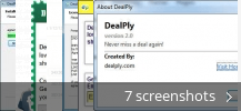 Screenshot collage for DealPly
