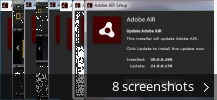 Screenshot collage for Adobe AIR