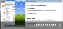 Screenshot collage for Google Gears