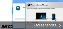 Screenshot collage for Motorola Device Manager