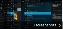 Screenshot collage for Kodi