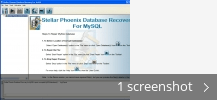 Screenshot collage for Stellar Phoenix Database Recovery for MySQL