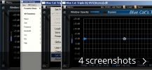 Screenshot collage for Blue Cat's Triple EQ - VST