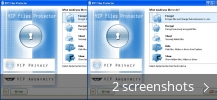 Screenshot collage for VIP Files Protector