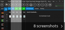 Screenshot collage for Ninja Download Manager