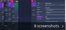 Screenshot collage for Avast Free Antivirus