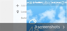 Screenshot collage for The Desktop Weather