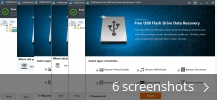 Screenshot collage for IUWEshare Free USB Flash Drive Data Recovery