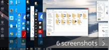 Screenshot collage for SkinPack Windows10