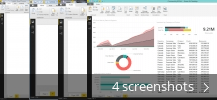 Screenshot collage for Microsoft Power BI Desktop