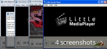 Screenshot collage for Little Media Player