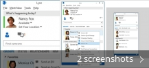 Screenshot collage for Cisco UC Integration for Microsoft Lync