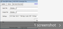 Screenshot collage for Free MP4 Video 2 AVI DVD Converter Pro