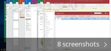 Screenshot collage for Microsoft Office 2016