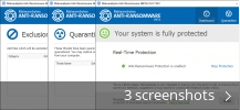 Screenshot collage for Malwarebytes Anti-Ransomware
