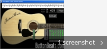 Screenshot collage for ButtonBeats Player Acoustic Guitar