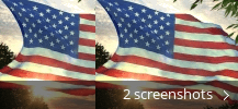 Screenshot collage for Flag 3D Screensaver