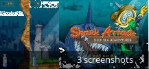 Screenshot collage for Shark Attack