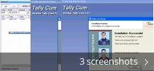 Screenshot collage for Tally Cum