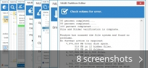Screenshot collage for NIUBI Partition Editor Professional Edition