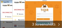 Screenshot collage for tigerVPN