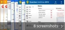 Screenshot collage for Guardian AntiVirus