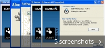 Screenshot collage for Garmin ANT Agent