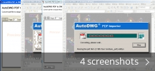 Screenshot collage for PDFIn PDF to DWG Converter