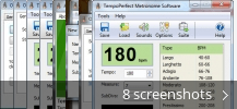 Screenshot collage for TempoPerfect Metronome Software