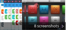 Screenshot collage for Free Studio