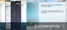 Screenshot collage for Microsoft Small Basic