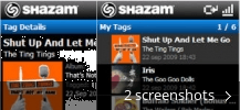 Screenshot collage for SHAZAM