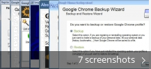 Screenshot collage for Google Chrome Backup