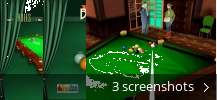 Screenshot collage for Moscow Billiards