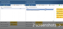 Screenshot collage for articuCAD DWG DXF to PDF Converter