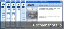 Screenshot collage for AVG Identity Protection