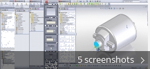 Screenshot collage for SolidWorks