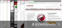 Screenshot collage for Comodo Dragon Internet Browser